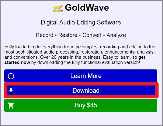 goldwave 공식